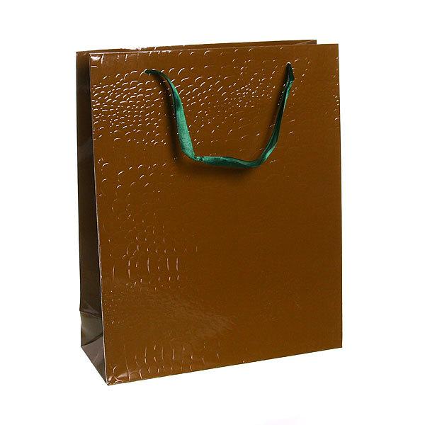 Пакет подарочный ″Элегантный″ 32*26*10 3202С зеленый купить оптом и в розницу