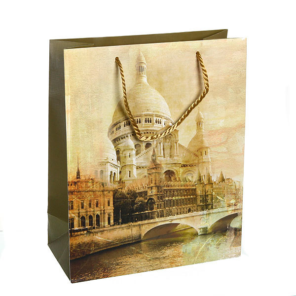 Пакет подарочный ″Башня″ 32*26*12 3201 купить оптом и в розницу
