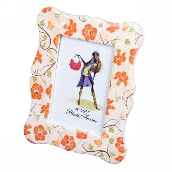 Фоторамка из керамики ″Оранжевые цветы″ 10*15 см купить оптом и в розницу