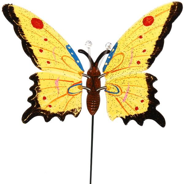 Садовая фигура на спице ″Бабочка″ 22см купить оптом и в розницу