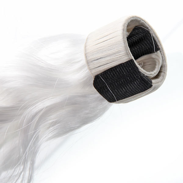 Волосы накладные ″Хвост кудрявый″ блондинка 34см 517-2 купить оптом и в розницу