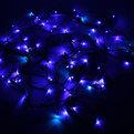 Гирлянда светодиодная 9,5м,100 ламп LED, Синий, 8 реж,зелен.пров. купить оптом и в розницу