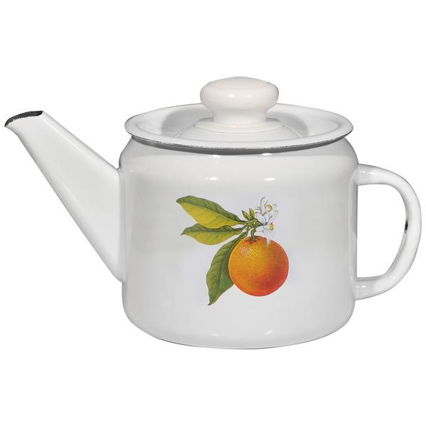 Чайник заварочный эмалированный 1л ″Фруктовая фантазия″ купить оптом и в розницу