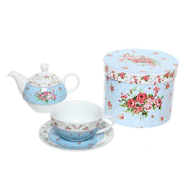 Набор чайный керамический 3 предмета (чайник 250мл +чайная пара200мл) К3188-25 купить оптом и в розницу