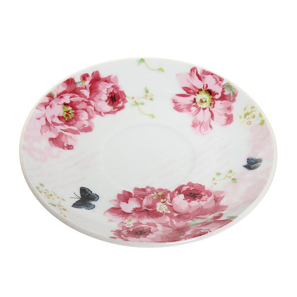 Набор чайный керамический 3 предмета (чайник 250мл +чайная пара200мл) ″Цветок″ купить оптом и в розницу