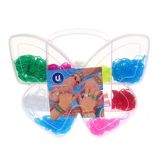 Набор резинок для плетения браслетов 600штук 8 цветов Бабочка купить оптом и в розницу