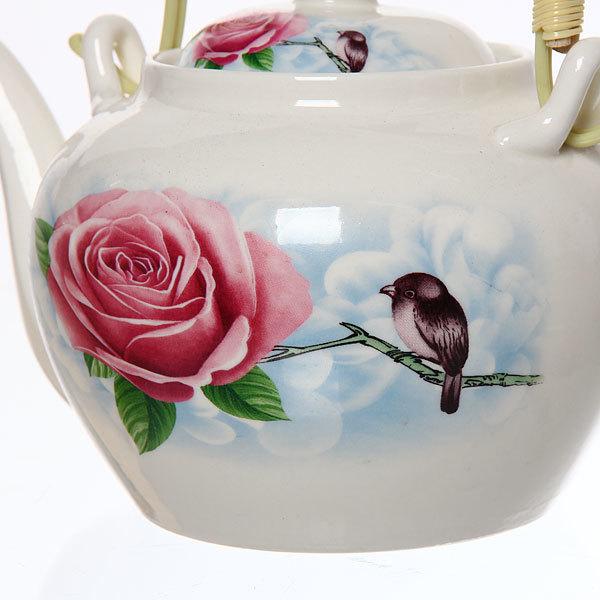 Чайник заварочный керамический 750 мл ″Нежная роза″ купить оптом и в розницу