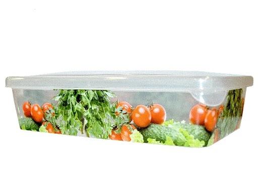 """Емкость для продуктов """"Браво"""" Овощи прямоугольная 0,9 л*45 купить оптом и в розницу"""
