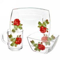 Набор посуды для завтрака ″Алая роза″ 3 купить оптом и в розницу