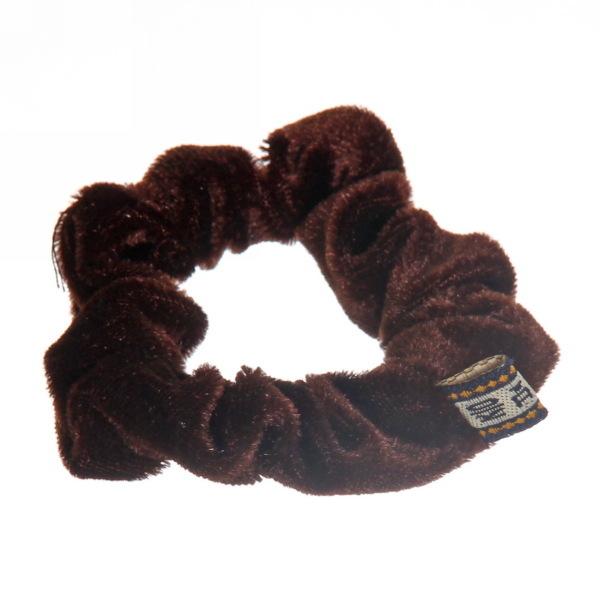 Резинка для волос 1шт ″Бархат″, цвет коричневый d-8см купить оптом и в розницу