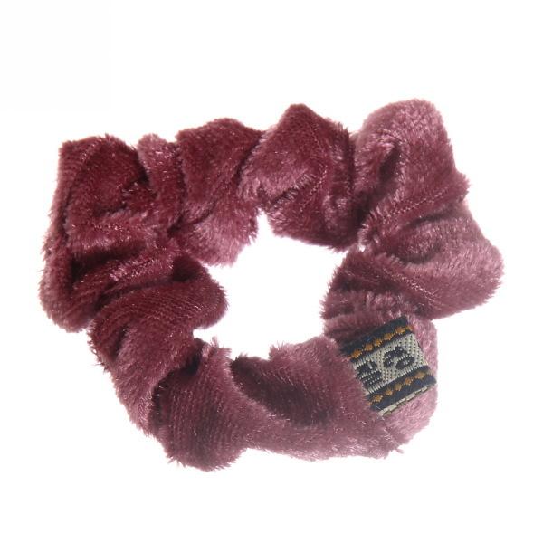 Резинка для волос 1шт ″Бархат″, цвет розовый d-8см купить оптом и в розницу