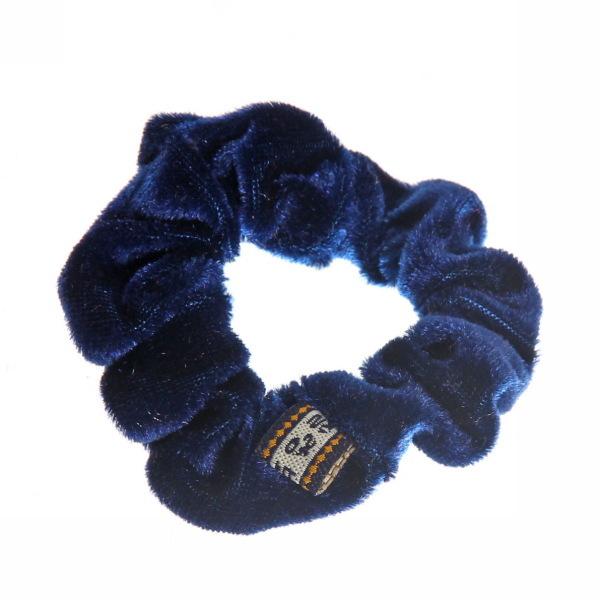 Резинка для волос 1шт ″Бархат″, цвет темно-синий d-8см купить оптом и в розницу