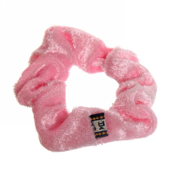 Резинка для волос 1шт ″Бархат″, цвет светло-розовый d-8см купить оптом и в розницу