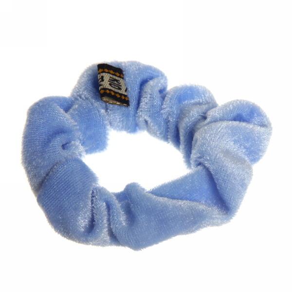 Резинка для волос 1шт ″Бархат″, цвет голубой d-8см купить оптом и в розницу