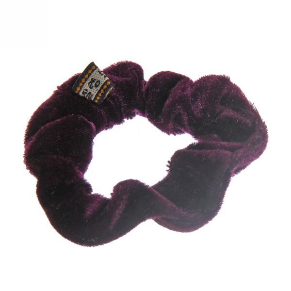 Резинка для волос бархат d-8см фиолетовый цв 591-11 купить оптом и в розницу