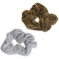 Резинка для волос 1шт ″Люрекс″, цвет золото и серебро купить оптом и в розницу