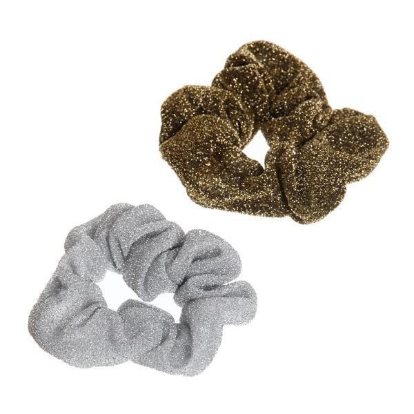 Резинка для волос люрекс золото и серебро цв 591-12 купить оптом и в розницу