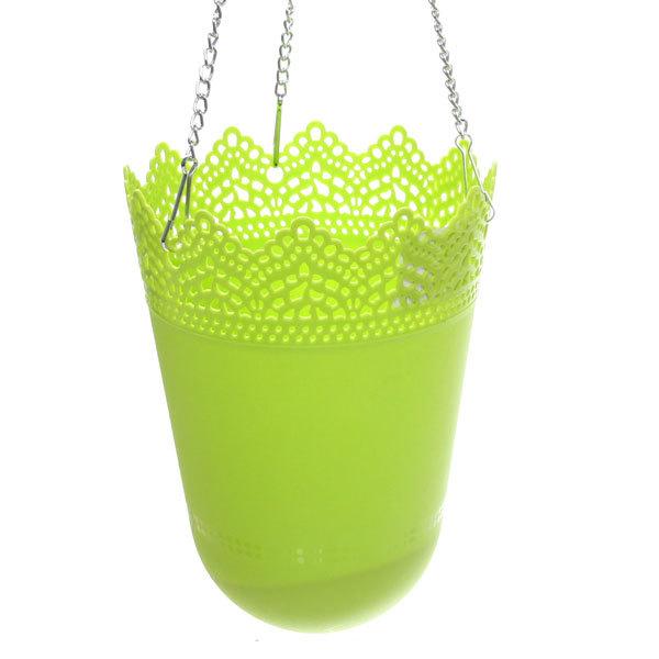 Горшок для цветов ЭКО Ажур″ 19*13см GD3032 зеленый купить оптом и в розницу