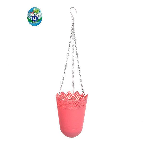 Горшок для цветов ЭКО Ажур″ 19*13см GD3032 розовый купить оптом и в розницу
