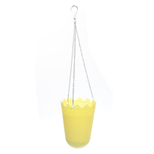 Горшок для цветов ЭКО Ажур″ 19*13см GD3032 желтый купить оптом и в розницу