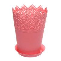 Горшок для цветов ЭКО Ажур″ 18*14см GD3031 розовый купить оптом и в розницу