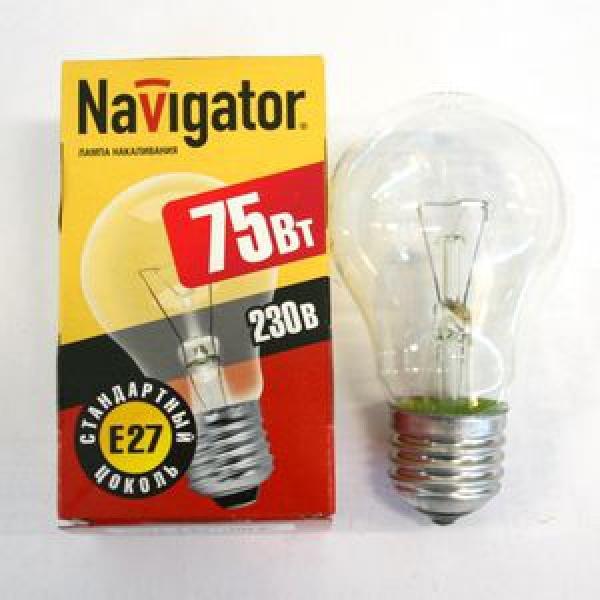Лампа накаливания Navigator NI-A-75Вт-E27-230В-СL прозрачн.стандарт (10/100) купить оптом и в розницу