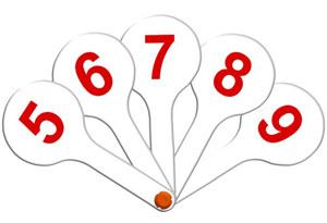 Веер цифр 0-9 купить оптом и в розницу
