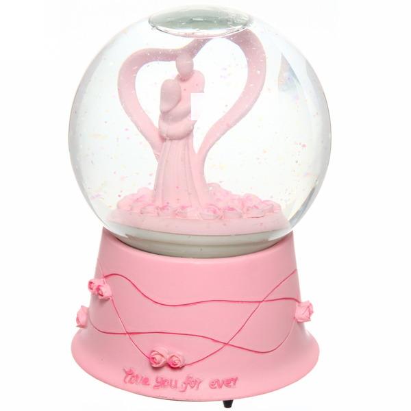 Фигурка шар с водой ″Нежность″ с музыкой JC8007 купить оптом и в розницу