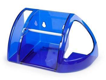 Полка для туалета (синий полупрозрачный) )*18 купить оптом и в розницу