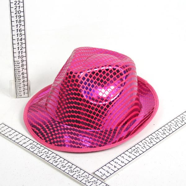 Шляпа карнавальная ″Диско″ розовая купить оптом и в розницу