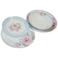 Набор столовой посуды 19 предметов ″Нежность″ (салатник 170, тарелка 170, тарелка 200, салатник 200) купить оптом и в розницу