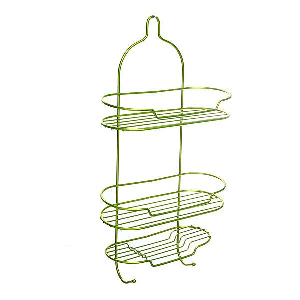 Полка для ванны металлическая 53х27х11см. зеленая E0057-C купить оптом и в розницу