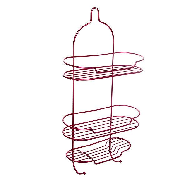 Полка для ванны металлическая 53х27х11см. розовая E0057-C купить оптом и в розницу