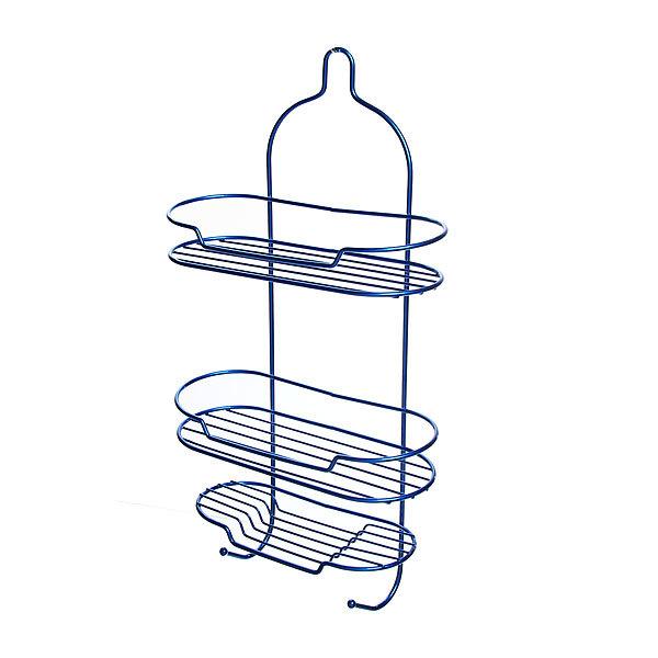 Полка для ванны металлическая 53х27х11см. синяя E0057-C купить оптом и в розницу