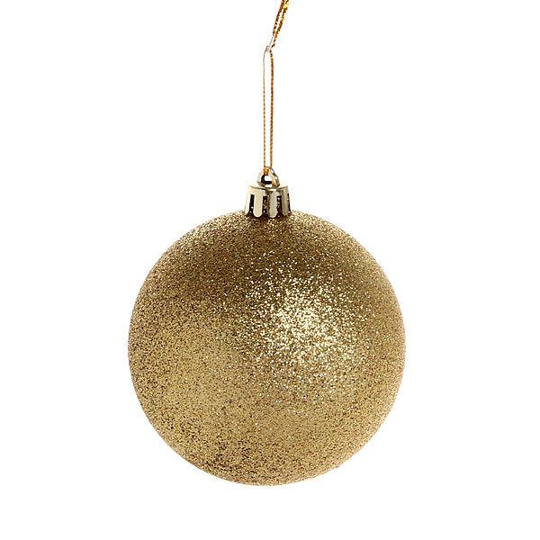 Новогодние шары ″Золотой блеск″ 8см (набор 3шт.) купить оптом и в розницу