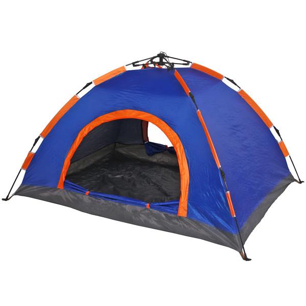 Палатка 2-местная 1-слойная зонтичного типа, цвет сине-оранжевый, 200*150*110 купить оптом и в розницу
