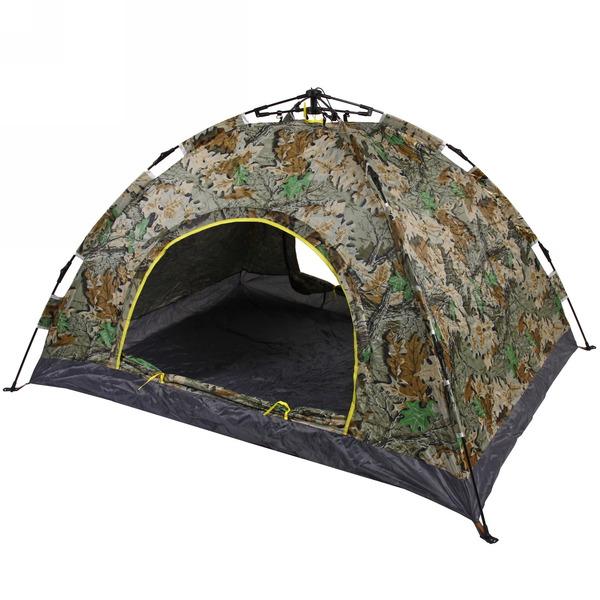 Палатка 2-местная 1-слойная зонтичного типа, цвет хаки осенний лес, 200*150*110 купить оптом и в розницу