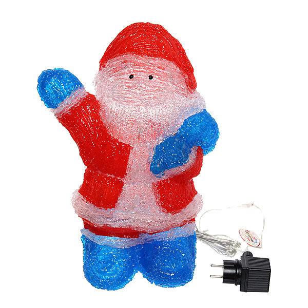 Фигура светодиодная 27*17*39 ″Дед Мороз″ купить оптом и в розницу