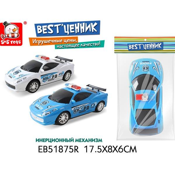Машина инерц. 51875EBR Полиция в пак. купить оптом и в розницу