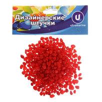 Украшение декоративное ″Камни мелкие″ 100гр красные купить оптом и в розницу