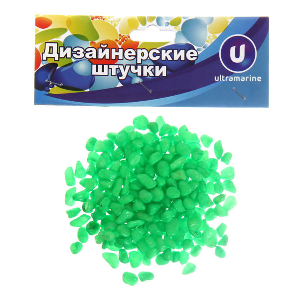 Камни декоративные ″Изумруд″ 100гр мелкие,зеленые купить оптом и в розницу