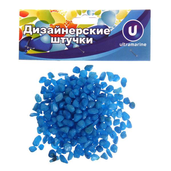 Камни декоративные ″Мелкие″ 100гр голубые купить оптом и в розницу