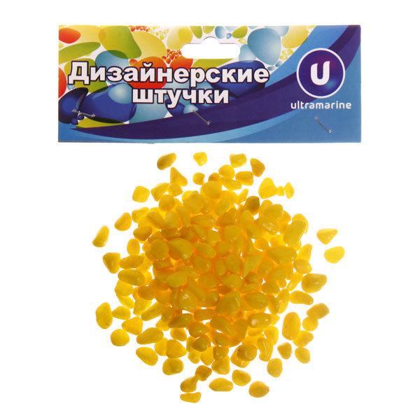 Камни декоративные ″Мелкие″ 100гр желтые купить оптом и в розницу