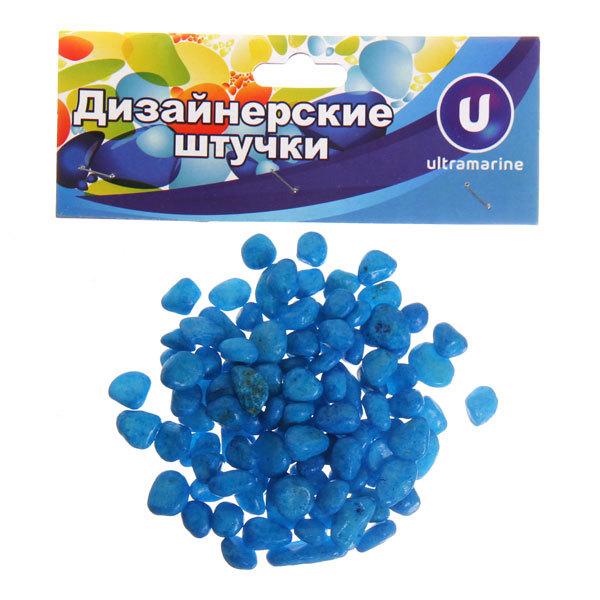 Украшение декоративное ″Камни средние″ 100гр голубые купить оптом и в розницу