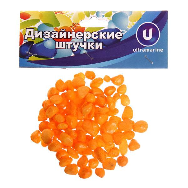 Украшение декоративное ″Камни средние″ 100гр оранжевые купить оптом и в розницу