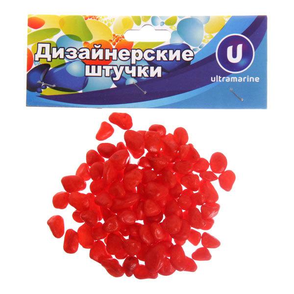 Украшение декоративное ″Камни средние″ 100гр красные купить оптом и в розницу