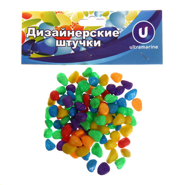 Украшение декоративное ″Камни средние″ 100гр разноцветные купить оптом и в розницу