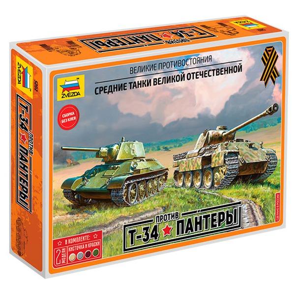 Сб.модель 5202 Танк Великие противостояния Т-34/76 против Пантеры купить оптом и в розницу