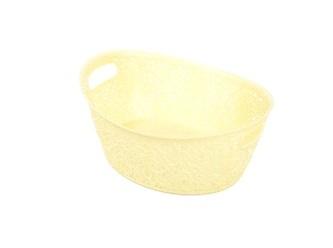 Корзинка кружевная овальная желтый  *44 купить оптом и в розницу