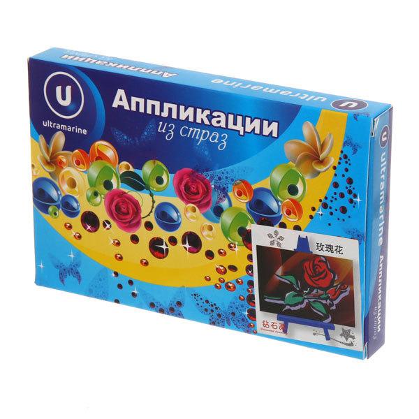 Алмазная вышивка 10*15см ″Розочки″ М112 Ультрамарин купить оптом и в розницу